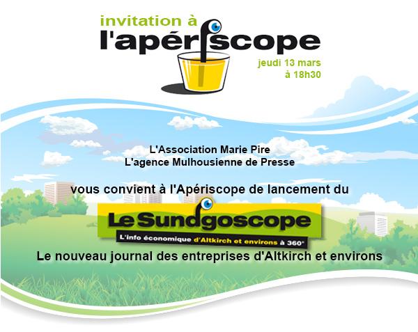 invitation apériscope sundgoscope - jeudi 13 mars à 18h30