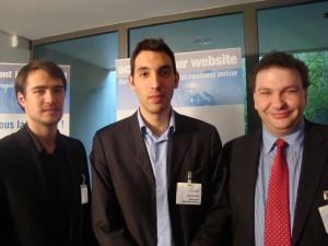 Nordahl Ballingall et Jérôme Paille de Google, Patrick Rein président d'Activis