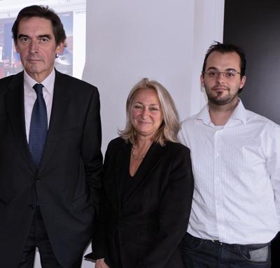 Jean Simon, Directeur du CAHR, Nicole Scherrer, responsable communication et Johann Daclin, Alphea net