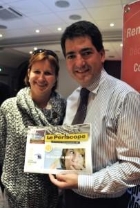 Corinne Fanchon, directrice de la communication de Systme U et Jean Rottner, nouveau maire de Mulhouse