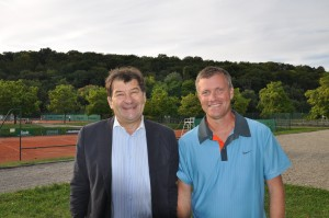 Laurent Naegelen, directeur du tournoi et Christian Rohfritsch, président du TC Illberg