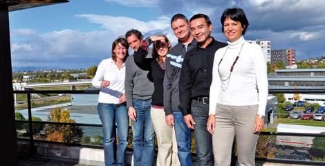 Une partie du réseau. De gauche à droite : Valérie Vernerey, Michel Jaquet, Virginie Tanghe, Nicolas Schmitt, Jean-François Chan-Kam et Véronique Prudhomme