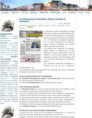 Le périscope, journal économique mulhousien - Alsagora