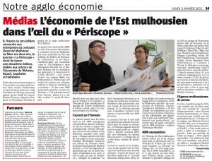 le journal économique mulhousien - le périscope : article de presse l'alsace