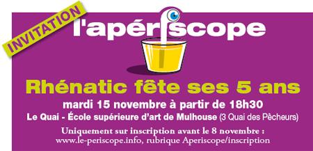 Le périscope, journal économique de Mulhouse et environs - apériscope Rhénatic fête ses 5 ans