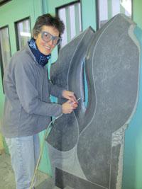 Le périscope, journal économique Mulhouse et environs - Val'Grav : gravure sur pierre traditionnelle