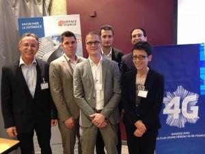 L'équipe d' Eiffage Energie Communications Réseaux & Sécurité et Bouygues Telecom Entreprises