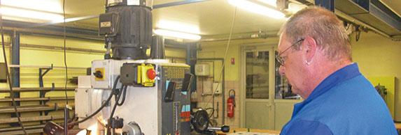 l'atelier mécanique de l'ESAT Marie Pire à Altkirch