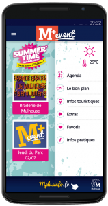 M+ event, applications mobiles, Mulhouse