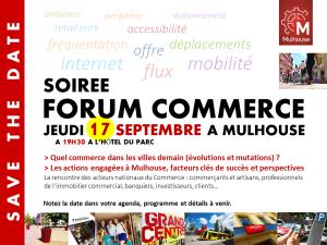 soirée forum du commerce, Mulhouse, commerce