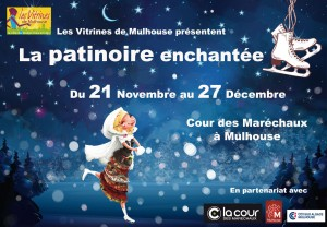 patinoire, marché de noël, mulhouse