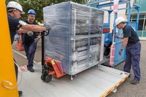Axal, Déménagement: chantier robot scientifique (Sanofi)