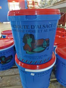 Choucrouterie Claude, production choucroute, navet salé, chou rouge, Alsace