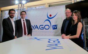 Les organisateurs du concours Yago : Patrice Barrère, Alexandre Astier, Philippe Lamberger (Président) et Victoria Wirth