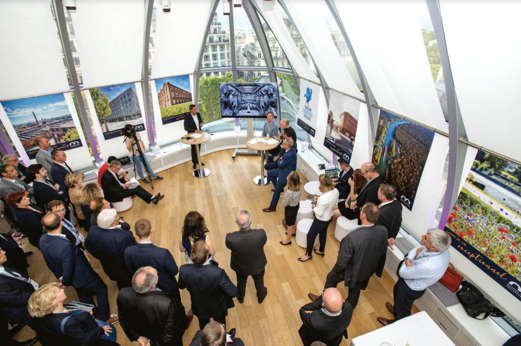 m2A a organisé à la Maison de l'Alsace à Paris une soirée business en présence de chefs d'entreprises, décideurs et investisseurs parisiens. Objectif: promouvoir la dynamique économique du territoire dans la capitale.